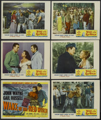 """Wake of the Red Witch (Republic, 1949). Title Lobby Card (11"""" X 14"""") and Lobby Cards (5) (11"""" X 14"""")..."""