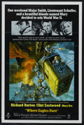 "Movie Posters:War, Where Eagles Dare (MGM, 1968). One Sheet (27"" X 41""). War. StarringRichard Burton, Clint Eastwood, Mary Ure, Michael Horder..."