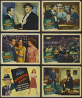 "Movie Posters:Crime, Whistle Stop (United Artists, 1945). Title Lobby Card (11"" X 14"") and Lobby Cards (5) (11"" X 14""). Film Noir. Starring Georg... (Total: 6 Items)"