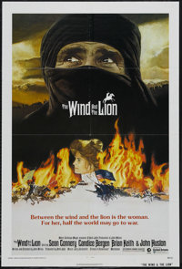 "The Wind and the Lion (MGM/UA, 1975). One Sheet (27"" X 41""). Adventure. Starring Sean Connery, Candice Bergen..."