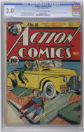 """Golden Age (1938-1955):Superhero, Action Comics #30 (DC, 1940) CGC GD/VG 3.0 Cream to off-white pages. First appearance and """"death"""" of Zolar. Jerry Siegel sto..."""
