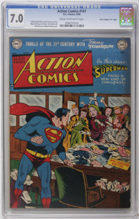"""Action Comics #147 Davis Crippen (""""D"""" Copy) pedigree (DC, 1950) CGC FN/VF 7.0 Cream to off-white pages. To dat..."""