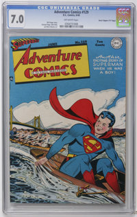 "Adventure Comics #129 Davis Crippen (""D"" Copy) pedigree (DC, 1948) CGC FN/VF 7.0 Off-white pages. To date, onl..."