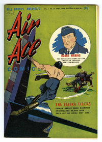 Air Ace V1#10 Mile High pedigree (Street & Smith, 1943) Condition: NM-. Flying Tigers story. Overstreet 2006 NM- 9.2...