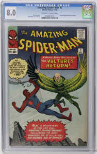 The Amazing Spider-Man #7 (Marvel, 1963) CGC VF 8.0 Off-white to white pages. Here's a sharp copy of the second appearan...