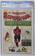 Silver Age (1956-1969):Superhero, The Amazing Spider-Man #19 (Marvel, 1964) CGC VF+ 8.5 Off-white to white pages. The Sandman and the Enforcers appear. Human ...