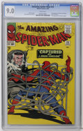 Silver Age (1956-1969):Superhero, The Amazing Spider-Man #25 (Marvel, 1965) CGC VF/NM 9.0 White pages. First appearance of Mary Jane Watson (face not shown). ...