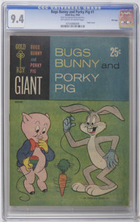 Bugs Bunny and Porky Pig #1 File Copy (Gold Key, 1965) CGC NM 9.4 Off-white to white pages. Paper cover. 100 pages. Over...