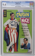 Silver Age (1956-1969):Humor, Captain Nice #1 File Copy (Gold Key, 1967) CGC NM 9.4 Off-white to white pages. William Daniels photo cover. Back cover phot...
