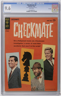Checkmate #2 File Copy (Gold Key, 1962) CGC NM+ 9.6 White pages. Photo cover. Overstreet 2006 NM- 9.2 value = $70. CGC c...