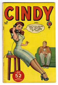 "Cindy #37 Davis Crippen (""D"" Copy) pedigree (Timely, 1949) Condition: VF. Overstreet 2006 VF 8.0 value = $56..."