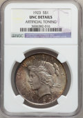 Peace Dollars: , 1923 $1 -- Artificial Toning -- NGC Details. UNC. NGC Census:(85/253997). PCGS Population (77/172413). Mintage: 30,800,000...