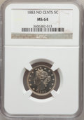 Liberty Nickels: , 1883 5C No Cents MS64 NGC. NGC Census: (2208/2358). PCGS Population(3124/1741). Mintage: 5,479,519. Numismedia Wsl. Price ...