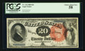 Large Size:Legal Tender Notes, Fr. 136 $20 1880 Legal Tender PCGS Choice About New 58.. ...