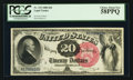 Large Size:Legal Tender Notes, Fr. 135 $20 1880 Legal Tender PCGS Choice About New 58PPQ.. ...