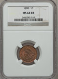 Indian Cents: , 1898 1C MS64 Red and Brown NGC. NGC Census: (192/141). PCGSPopulation (281/54). Mintage: 49,823,080. Numismedia Wsl. Price...