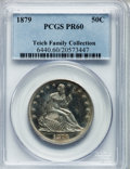 Proof Seated Half Dollars: , 1879 50C PR60 PCGS. PCGS Population (19/321). NGC Census: (4/249).Mintage: 1,100. Numismedia Wsl. Price for problem free N...