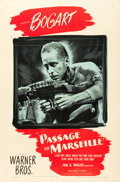 "Movie Posters:War, Passage to Marseille (Warner Brothers, 1944). One Sheet (27"" X 41"").. ..."