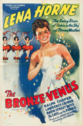 "Movie Posters:Black Films, The Bronze Venus (Toddy Pictures, R-1943). One Sheet (27"" X 41"").. ..."