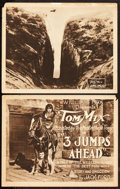 "Movie Posters:Western, Three Jumps Ahead (William Fox, 1923). Title Lobby Card and LobbyCard (11"" X 14"").. ... (Total: 2 Items)"