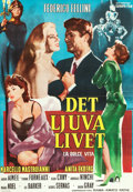 "Movie Posters:Foreign, La Dolce Vita (Europe, 1960). Swedish One Sheet (27.25"" X 39.25""). Foreign.. ..."