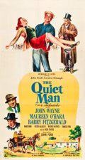 "Movie Posters:Drama, The Quiet Man (Republic, 1952). Three Sheet (41"" X 76.25"").. ..."