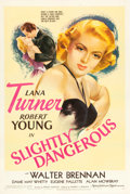 "Movie Posters:Romance, Slightly Dangerous (MGM, 1943). One Sheet (27"" X 41""). Style D....."