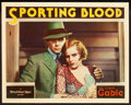 "Movie Posters:Drama, Sporting Blood (MGM, 1931). Lobby Card (11"" X 14""). From theLeonard and Alice Maltin Collection.. ..."