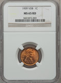 Lincoln Cents: , 1909 VDB 1C MS65 Red NGC. NGC Census: (3159/1548). PCGS Population(5017/2241). Mintage: 27,995,000. Numismedia Wsl. Price ...