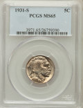 Buffalo Nickels: , 1931-S 5C MS65 PCGS. PCGS Population (1458/403). NGC Census:(699/64). Mintage: 1,200,000. Numismedia Wsl. Price for proble...