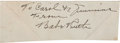 Autographs:Others, 1930's Babe Ruth Signed Cut Signature....