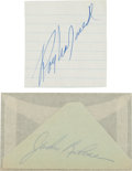 Autographs:Others, 1950's Roy Campanella & Jackie Robinson Signed Cut Signatures....
