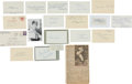 Autographs:Others, 1950's Hall of Famers Signed Autographs Lot of 18....