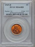 Lincoln Cents: , 1949-D 1C MS66 Red PCGS. PCGS Population (426/32). NGC Census:(712/75). Mintage: 153,132,496. Numismedia Wsl. Price for pr...