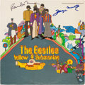 Music Memorabilia:Autographs and Signed Items, Beatles Paul McCartney and George Martin Signed YellowSubmarine Album Cover....
