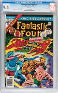 Modern Age (1980-Present):Superhero, Fantastic Four Annual #11 Double Cover (Marvel, 1976) CGC NM 9.4White pages....