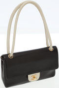 Luxury Accessories:Bags, Chanel Black Perforated Leather Medium Single Flap Bag with LeatherShoulder Strap. ...