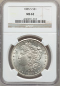 Morgan Dollars: , 1885-S $1 MS62 NGC. NGC Census: (919/3187). PCGS Population(1594/5445). Mintage: 1,497,000. Numismedia Wsl. Price for prob...