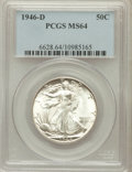 Walking Liberty Half Dollars: , 1946-D 50C MS64 PCGS. PCGS Population (6237/10872). NGC Census:(3059/8627). Mintage: 2,151,000. Numismedia Wsl. Price for ...
