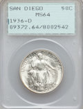 Commemorative Silver: , 1936-D 50C San Diego MS64 PCGS. PCGS Population (1748/4857). NGCCensus: (630/1940). Mintage: 30,092. Numismedia Wsl. Price...