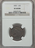 Half Cents: , 1835 1/2 C XF40 NGC. NGC Census: (23/725). PCGS Population(58/813). Mintage: 398,000. Numismedia Wsl. Price for problem fr...
