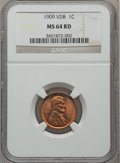 Lincoln Cents: , 1909 VDB 1C MS64 Red NGC. NGC Census: (2763/4707). PCGS Population(5044/7258). Mintage: 27,995,000. Numismedia Wsl. Price ...