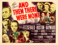 "Movie Posters:Mystery, And Then There Were None (20th Century Fox, 1945). Half Sheet (22""X 28"").. ..."