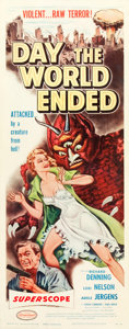 "Movie Posters:Science Fiction, Day the World Ended (American Releasing Corp., 1956). Insert (14"" X36"").. ..."