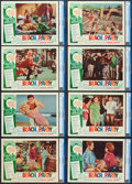 """Movie Posters:Comedy, Beach Party (American International, 1963). CGC Graded Lobby CardSet of 8 (11"""" X 14"""").. ... (Total: 8 Items)"""