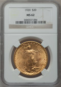 Saint-Gaudens Double Eagles: , 1920 $20 MS62 NGC. NGC Census: (3097/1831). PCGS Population(2033/2752). Mintage: 228,250. Numismedia Wsl. Price for proble...