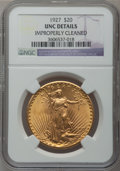 Saint-Gaudens Double Eagles: , 1927 $20 -- Improperly Cleaned -- NGC Details. Unc. NGC Census:(361/135693). PCGS Population (888/134768). Mintage: 2,946,...