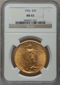Saint-Gaudens Double Eagles: , 1926 $20 MS62 NGC. NGC Census: (2968/19310). PCGS Population(2910/18060). Mintage: 816,750. Numismedia Wsl. Price for prob...