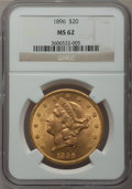 Liberty Double Eagles: , 1896 $20 MS62 NGC. NGC Census: (4132/1608). PCGS Population (2599/1007). Mintage: 792,500. Numismedia Wsl. Price for proble...