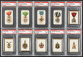 "Non-Sport Cards:Lots, 1880's-1910's ""T"" and ""N"" Military Medals Theme PSA-Graded Group (10). ..."